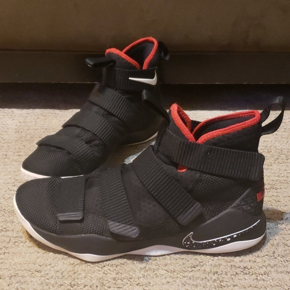 "detailed look 6c0d1 edd3f Nike LeBron Soldier 11 ""Bred"""